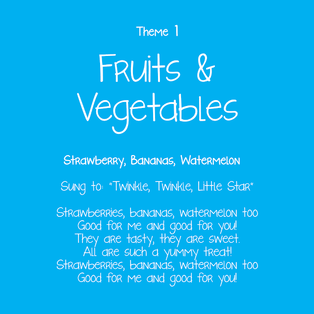 Fruits and Vegetables Theme